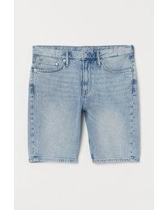 Jeansshorts Slim Blassblau