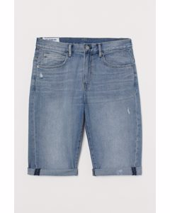 Relaxed Jeansshorts Blau