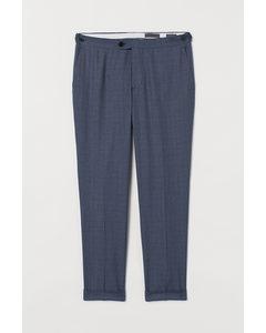 Anzughose Slim Fit Blau/Hahnentrittmuster
