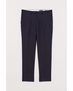 Anzughose aus Wolle Slim Fit Marineblau