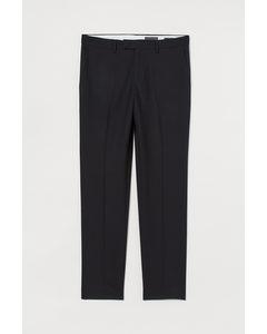 Anzughose aus Wolle Slim Fit Schwarz