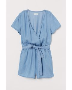 Playsuit I Lyocell Ljus Denimblå