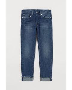 Slim Straight Selvedge Jeans Blau