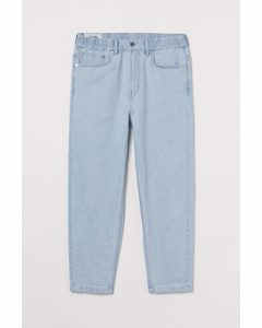 Relaxed Tapered Pull-on Jeans Licht Denimblauw