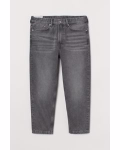 Relaxed Tapered Pull-on Jeans Grijs