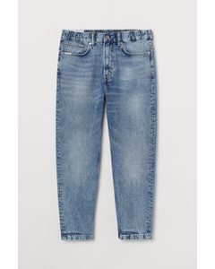 Relaxed Tapered Pull-on Jeans Bleek Denimblauw
