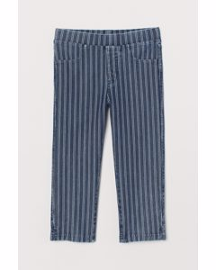 Capri-Leggings Blau/Weiß gestreift