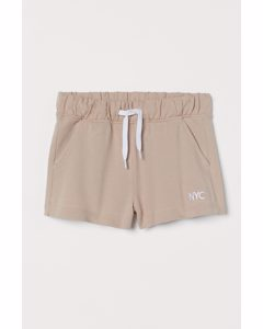 Sweatshorts aus Baumwolle Beige/NYC