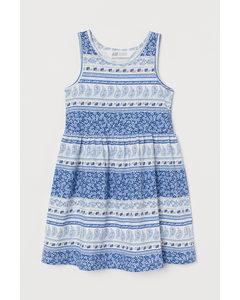 Patterned Jersey Dress White/patterned