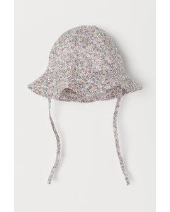 Cotton Sun Hat Powder Pink/floral
