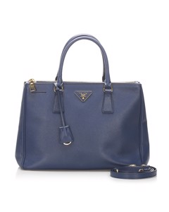 Prada Saffiano Lux Galleria Satchel Blue