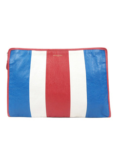 Balenciaga Bazar Leather Clutch Bag Multi
