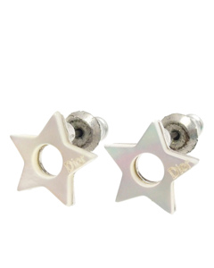 Dior Star Pushback Earrings Silver