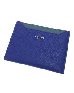 Celine Business Leather Card Holder Blue