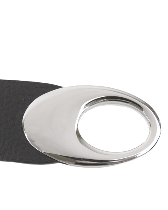 Bulgari Bvlgari Leather Belt Black