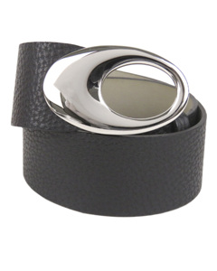 Bvlgari Leather Belt Black