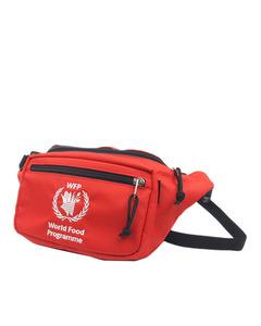 Balenciaga World Food Programme Nylon Belt Bag Red