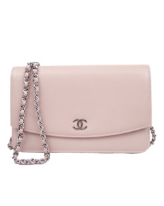 Chanel Caviar Wallet On Chain Pink