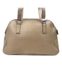 Ferragamo Vara Leather Shoulder Bag Brown