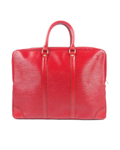 Louis Vuitton Epi Porte-documents Voyage Red
