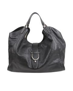 Gucci Leather Stirrup Tote Bag Black
