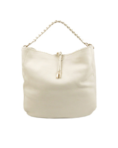 Ferragamo Leather Hobo Bag White