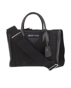 Prada Tessuto Concept Double Zip Satchel Black