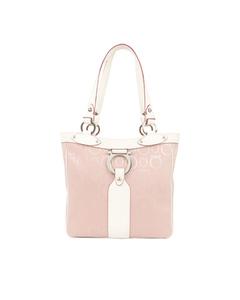 Ferragamo Gancini Nylon Tote Bag Pink