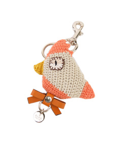 Gucci Knitted Bird Key Chain White