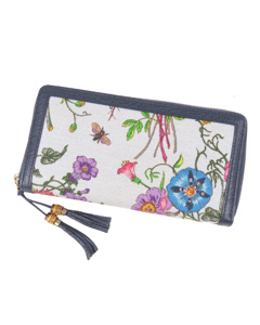 Gucci Flora Bamboo Long Wallet White