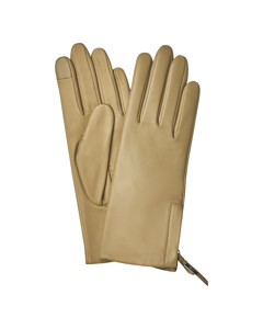 Zip Gloves Honey Beige