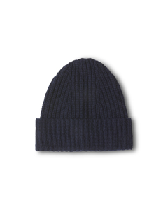 Elisa Recycled Cashmere Beanie Navy