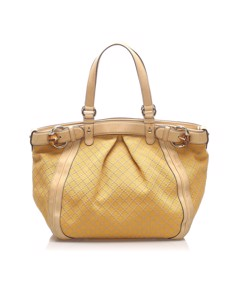 Gucci Diamante Canvas Tote Bag Brown