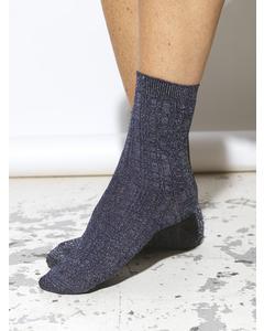 Glitter Drake Sock Medieval Blue