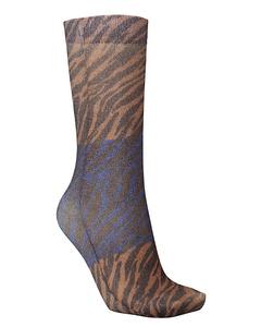 Dagmar Zebra Sock Brownish