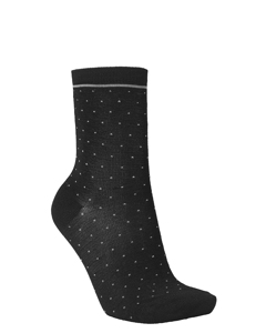Darsi Shiny Dots Sock Black