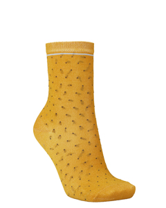 Darsi Shiny Dots Sock Golden Yellow
