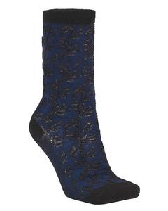 Delilah Lace Sock Navy Blue