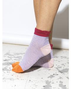 Poppy Sibia Sock Lavender