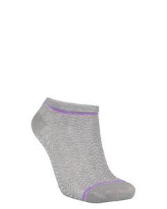 Dollie Zig Zag Sock Light Grey Melange