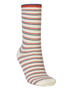 Dory Thin Stripe Sock Red Love