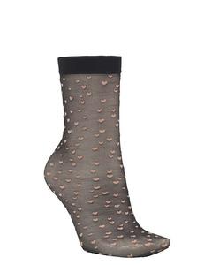 Dagmar Small Hearts Sock Black