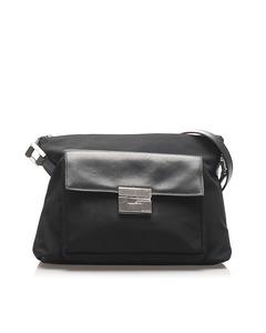 Gucci Canvas Shoulder Bag Black