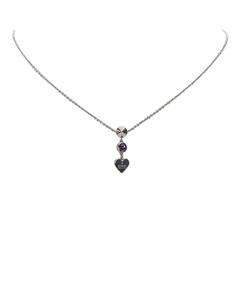 Gucci Heart Pendant Necklace Silver