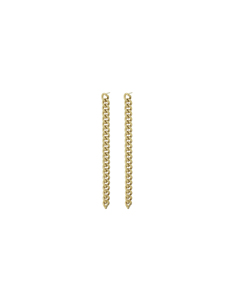 Lourdes Chain Earrings Gold
