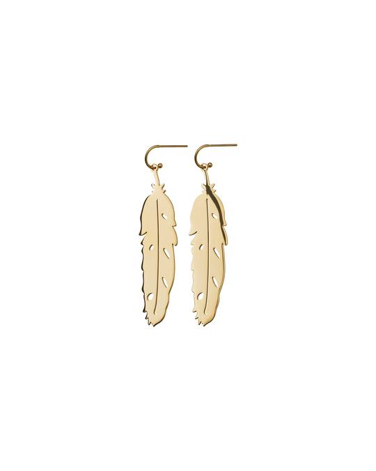 Edblad Feather Earrings Gold