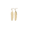 Feather Earrings Gold