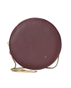 Midnight Round Evening Bag Bordeaux