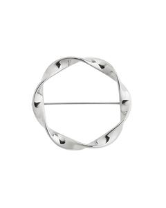 Swirl Brooch Steel