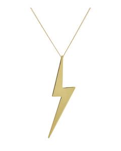 Lightning Ketting Long Gold